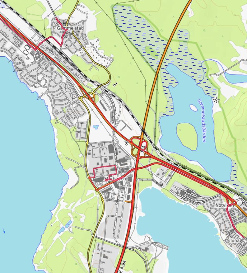 Carte OpenTopoMap de Gammelstad