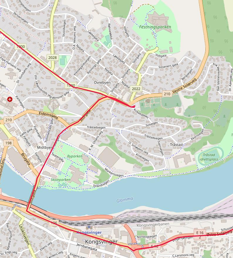 Carte OpenStreetMap de Kongsvinger