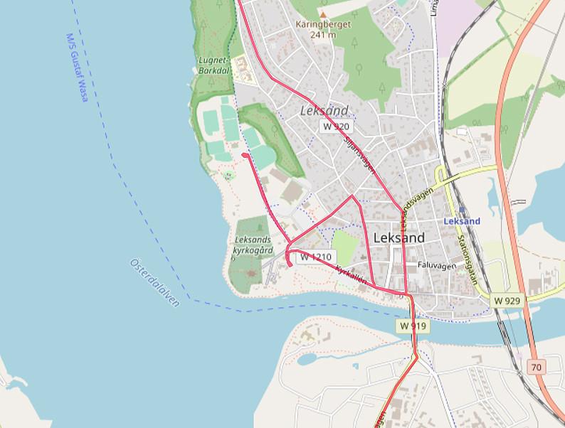Carte OpenStreetMap d'Olso de Leksand