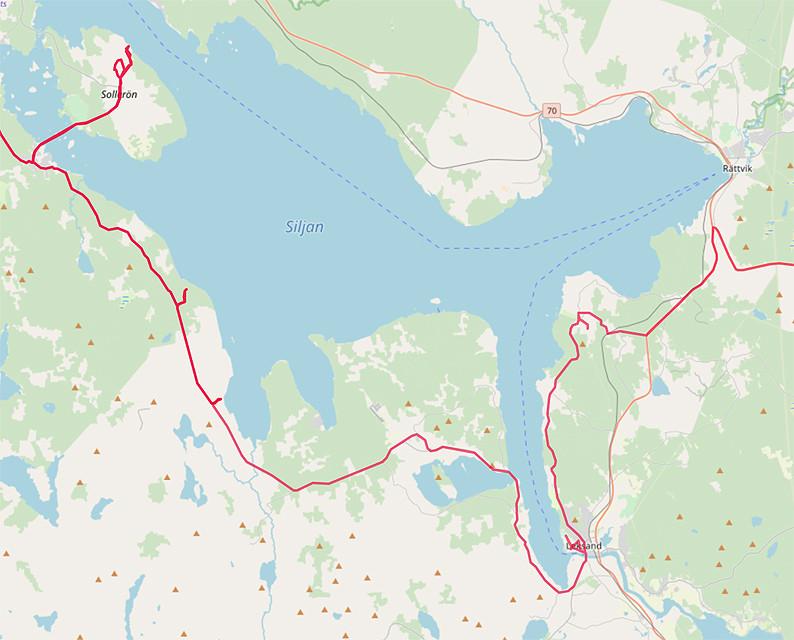 Carte OpenStreetMap du Lac Siljan