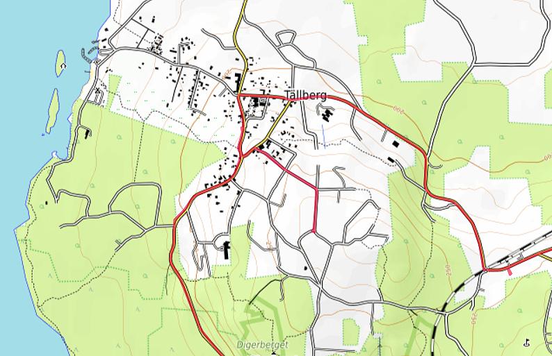 Carte OpenTopoMap de Tällberg