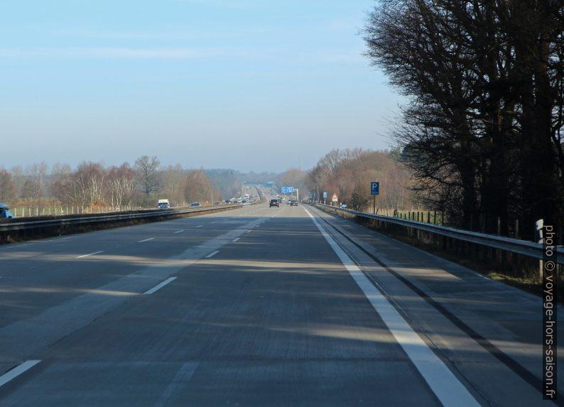 L'autoroute A7 au sud de Hambourg. Photo © André M. Winter