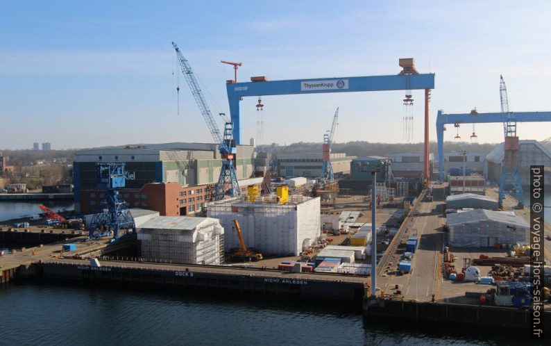 Cale de radoub n°8 du chantier naval HDW à Kiel. Photo © André M. Winter