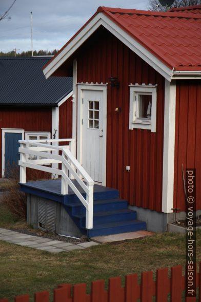 Maison rouge falun à Norrfällsviken. Photo © Alex Medwedeff