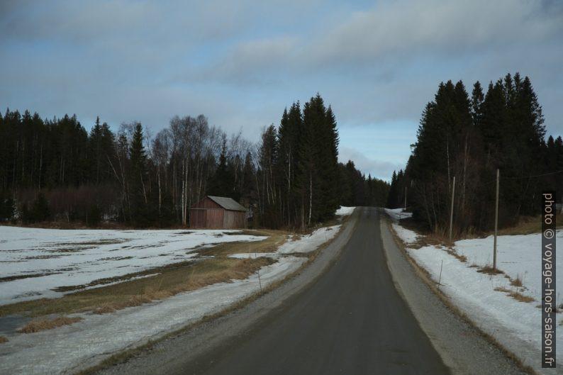 Route non-revêtue près de Gammelbyn. Photo © Alex Medwedeff