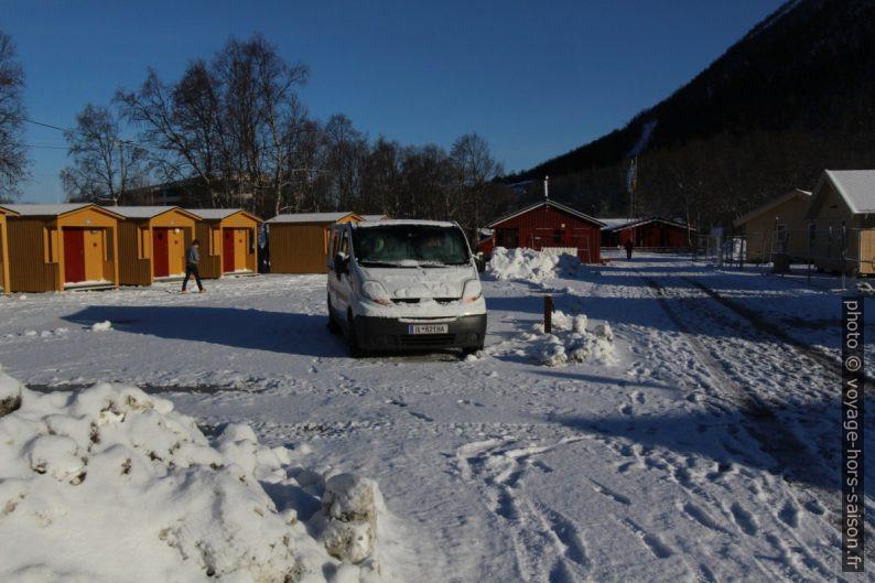 Notre Trafic au Camping de Tromsø. Photo © Voyage Hors Saison, André M. Winter