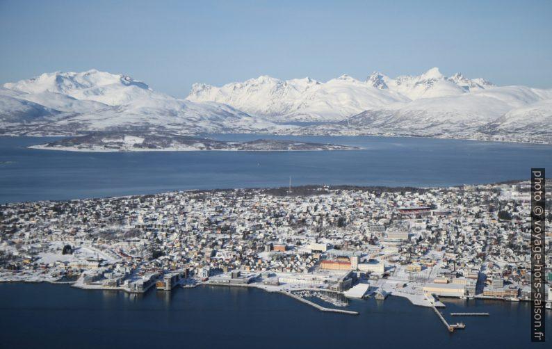 Tromsø et montages autour de l'Ersfjorden. Photo © Alex Medwedeff