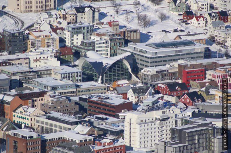 Tromsø Bibliotek vue du Storsteinen. Photo © André M. Winter
