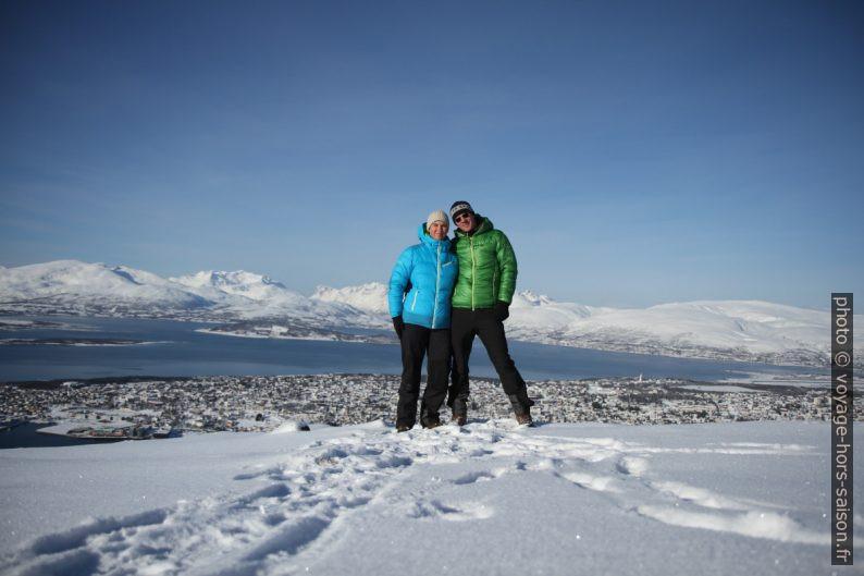 Alex et André sur le Storsteinen. Photo © Voyage Hors Saison, André M. Winter