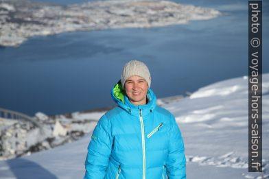Alex au dessus de Tromsø. Photo © André M. Winter
