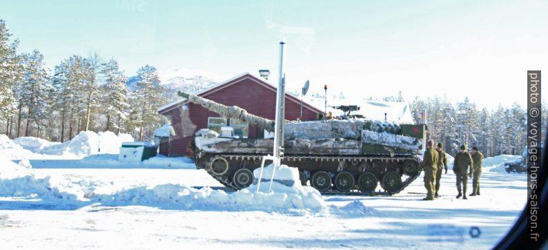 Char norvégien lors de l'opération Cold Response 2014. Photo © André M. Winter