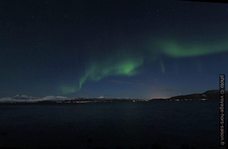Aurora borealis Kutup ışıkları. Photo © André M. Winter