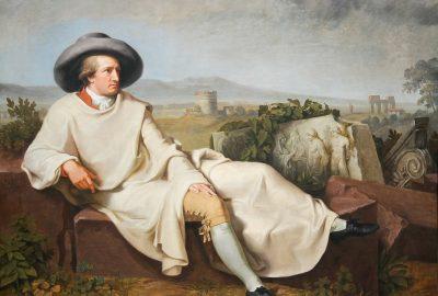 Johann Heinrich Wilhelm Tischbein - Goethe in der römischen Campagna