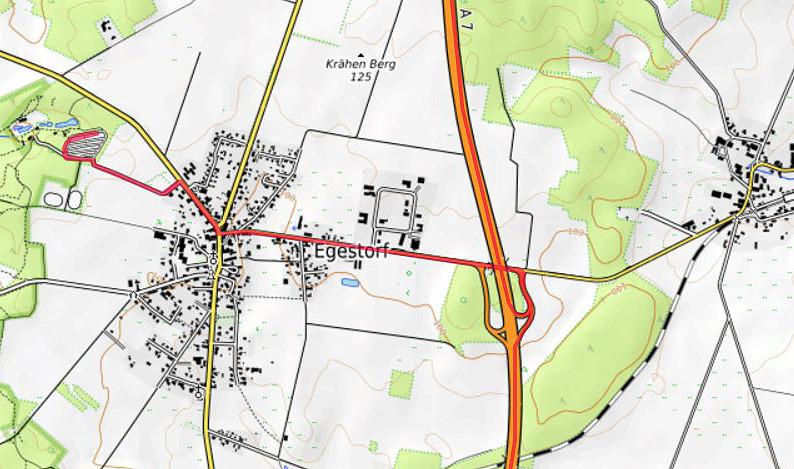 Carte OpenTopoMap de la région d'Egestorf