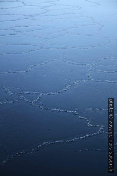 egmentation des plaques de glace sur la mer calme. Photo © Alex Medwedeff