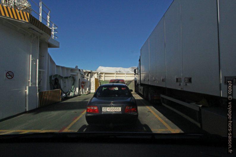 Sur le ferry entre Skarberget et Bognes