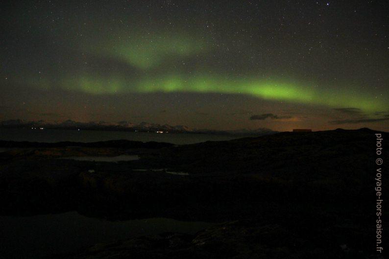 Aurore boréale au dessus des Îles Lofoten