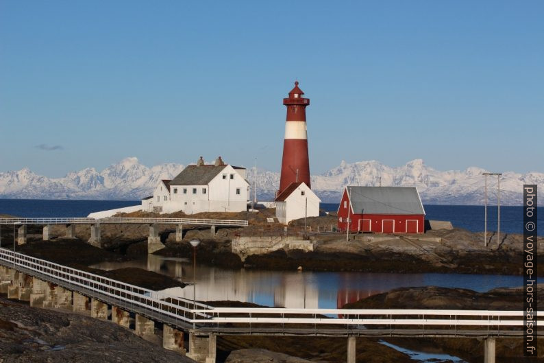 Le Phare de Tranøy un matin d'hiver