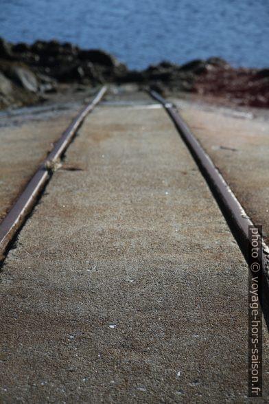 Rails du quai de Tranøy