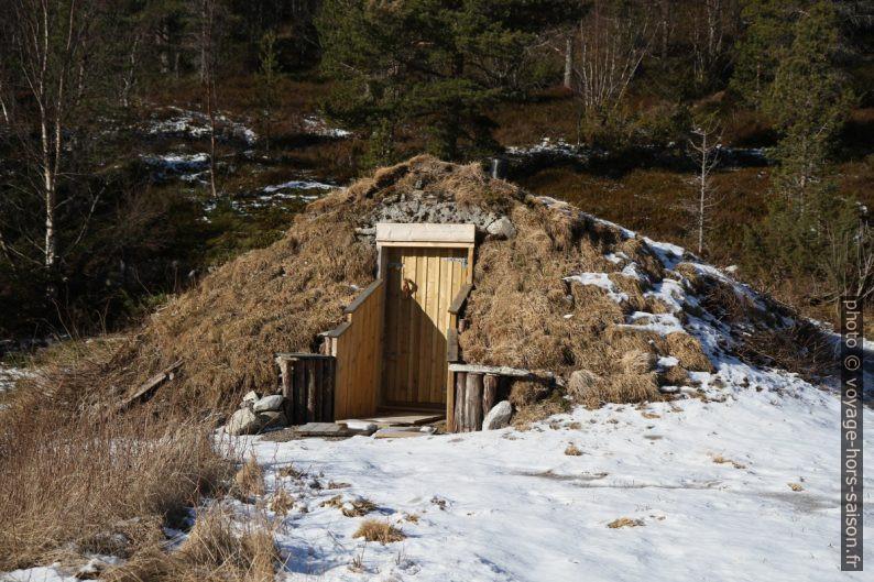 Sauna couvert de tourbe