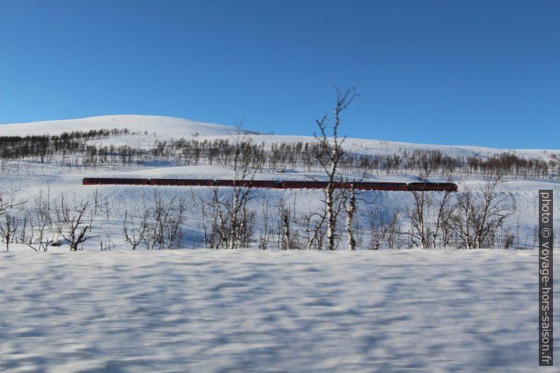 Train passant le Saltfjellet