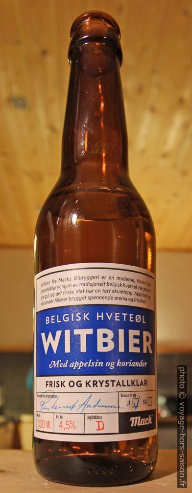 Bière Belgisk Hveteøl de Mack. Photo © André M. Winter