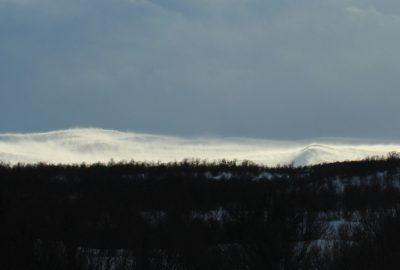 Tempête sur les montagnes au sud d'Oppdal. Photo © André M. Winter