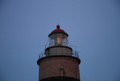 Lampe du phare de Falsterbo allumée. Photo © André M. Winter