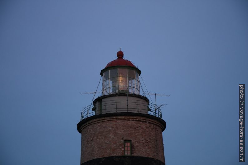 Lampe du phare de Falsterbo allumée. Photo © André M. Winter