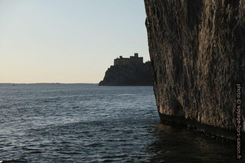 Château de Duino et la falaise abrupte. Photo © Alex Medwedeff