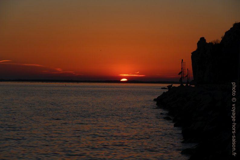 Coucher de soleil sur la Mer Adriatique. Photo © André M. Winter