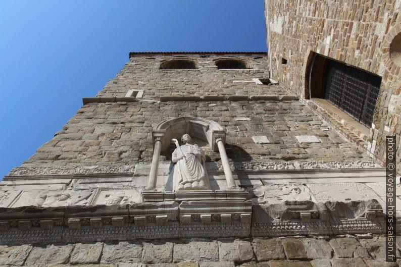 Statue der St. Just sur le clocher de la cathédrale de Trieste. Photo © André M. Winter