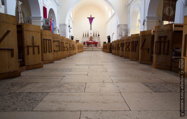Alphabet glagolitique dans l'église de Senj. Photo © André M. Winter