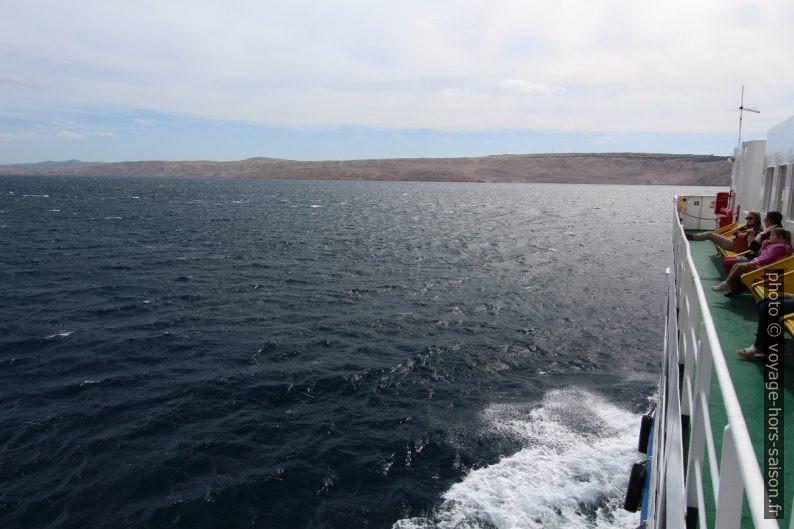 Traversée vers l'Otok Pag. Photo © André M. Winter