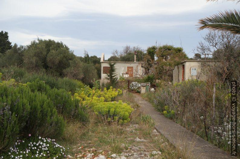 Maison inachevée et jardin sauvage. Photo © Alex Medwedeff