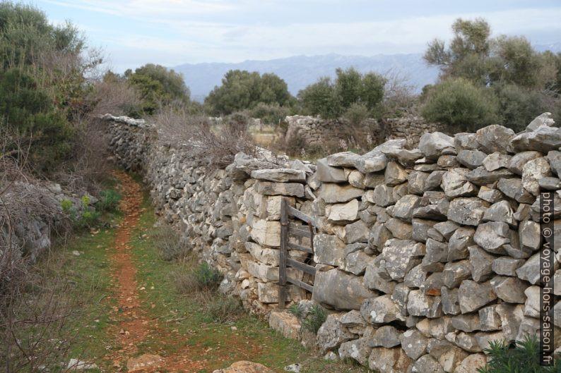 Des murs en pierre sèche forment les enclos. Photo © Alex Medwedeff
