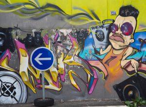 Graffiti à Basse-Terre. Photo © Alex Medwedeff