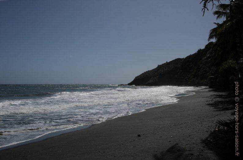 Partie sud-ouest de la plage de la Grande Anse de Capesterre. Photo © Alex Medwedeff