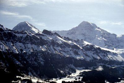 Eiger et Mönch au printemps 1999. Dumas peut avoir vu ces montagnes sous cet angle. Photo © André M. Winter