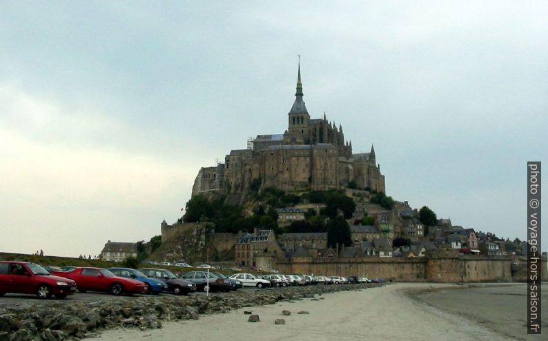 Le Mont Saint-Michel où le groupe d'aviateurs dit être passé, vue de 2005. Photo © André M. Winter