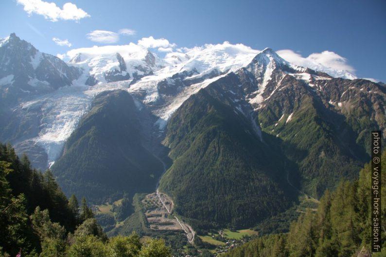 Aiguille du Midi, Mont Blanc et le Grand Béchar. Vue de 2008. Photo © André M. Winter