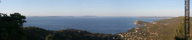 Île du Levant, Port-Cros, Cap Nègre, Cap Bénat et Île de Porquerolles. Photo © André M. Winter