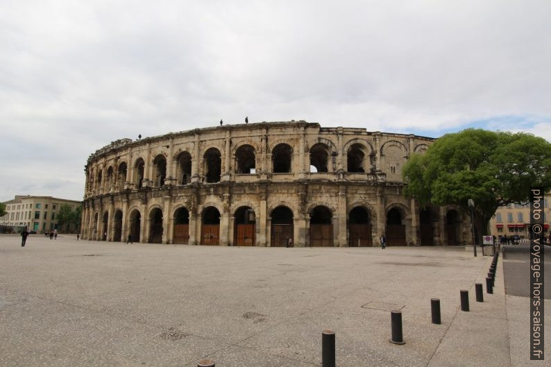 Arcades des Arènes de Nîmes en 2014. Photo © André M. Winter
