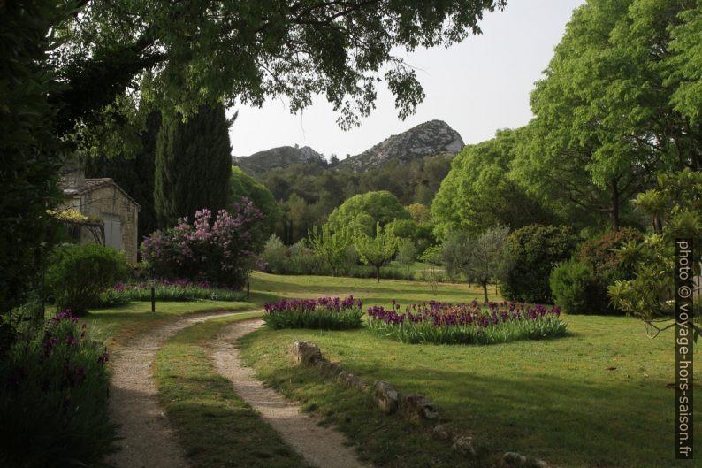 Jardin sous la Chaîne des Alpilles. Photo © Alex Medwedeff