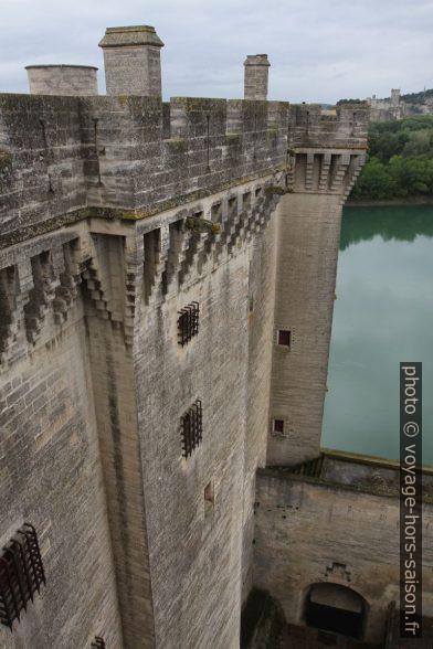 Mâchicoulis du Château de Tarascon et le Château de Beaucaire au fond. Photo © Alex Medwedeff
