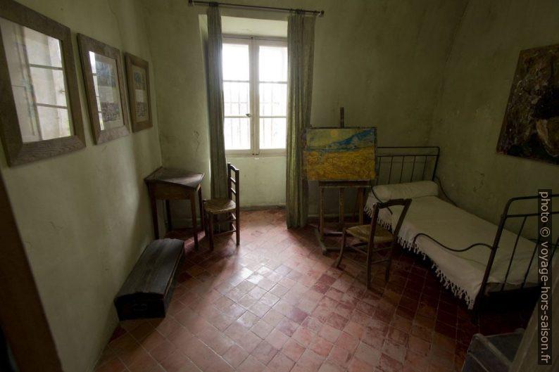 Chambre de Van Gogh dans l'ancienne clinique psychiatrique de St. Paul de Mausole. Photo © André M. Winter