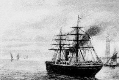 """""""La Gallia franchit l'entrée de la jetée, puis s'élance vers la haute mer."""""""