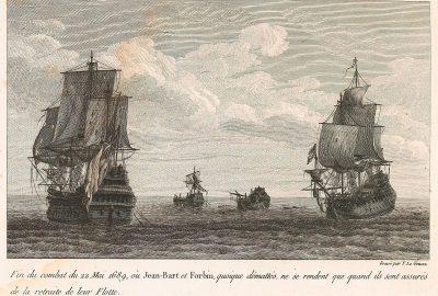 Claude de Forbin et Jean Bart capturés en 1689 au large des côtes anglaises.
