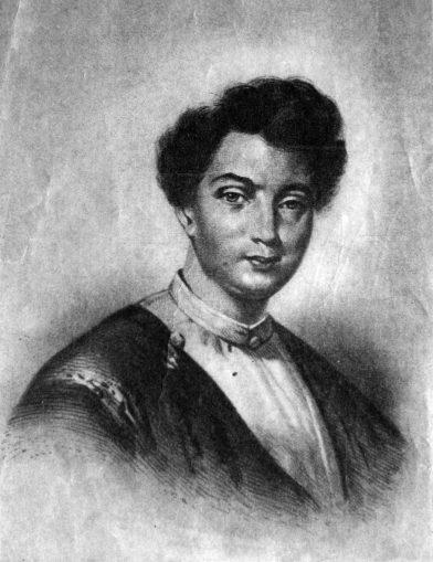 Dumas encore jeune comme lors de son voyage en Suisse, vers 1840