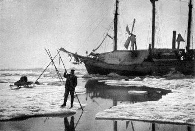 Le Fram bloqué dans la glace le 21 juillet 1894